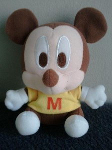 Baby Mickey in brown