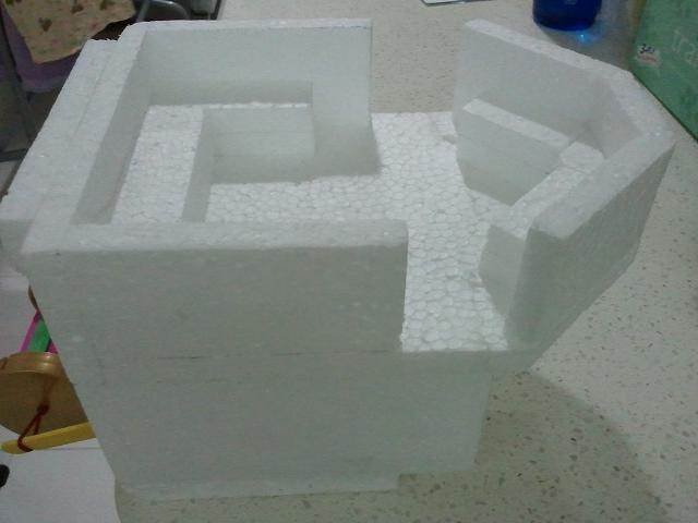 Styrofoam boat model