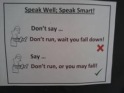 Example of speaking well